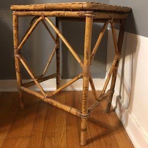 Boho rattan bamboo table